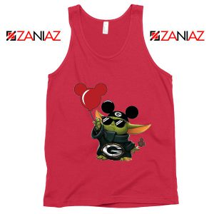 Baby Yoda Mickey Mouse Balloons Red Tank Top