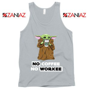 Baby Yoda No Coffee No Workee Tank Top