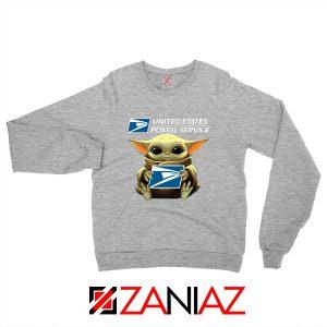 Baby Yoda Postal Service Grey Sweater