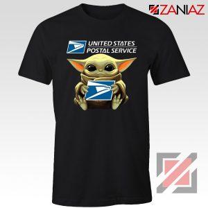 Baby Yoda US Postal Service Black Tshirt