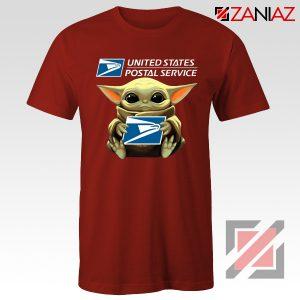 Baby Yoda US Postal Service Red Tshirt