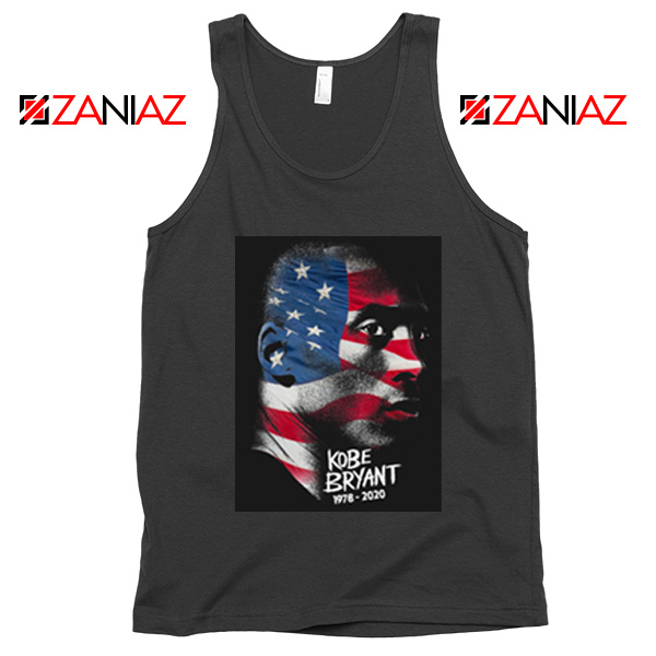 Best Kobe Bryant American Flag Black Tank Tops