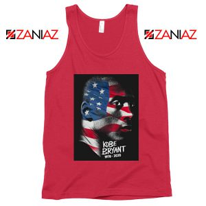 Best Kobe Bryant American Flag Red Tank Tops