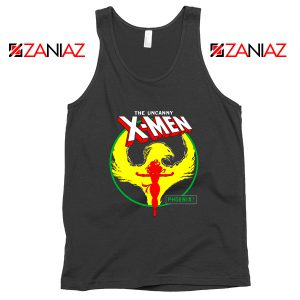 Dark Phoenix Circle Black Tank Top