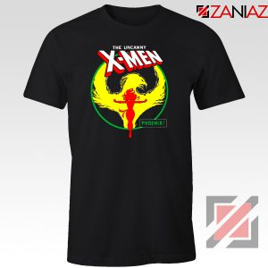 Dark Phoenix Circle Black Tee Shirt