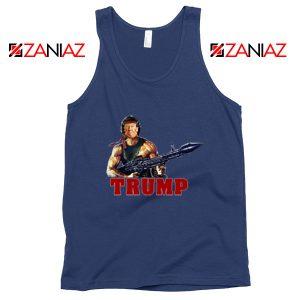Donald Trump Rambo NAvy Tank Top