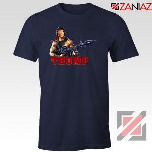 Donald Trump Rambo Navy Tshirt