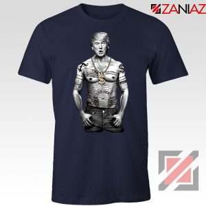 Gangster Donald Trump Navy Tshirt