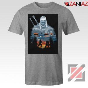 Geralt And Eredin Grey Tee Shirt
