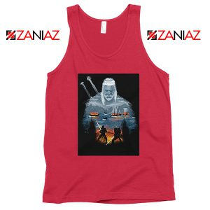 Geralt And Eredin Red Tank Top