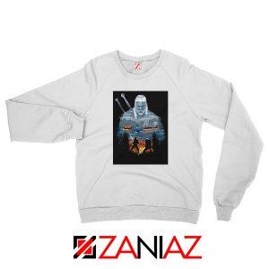 Geralt And Eredin White Sweatshirt
