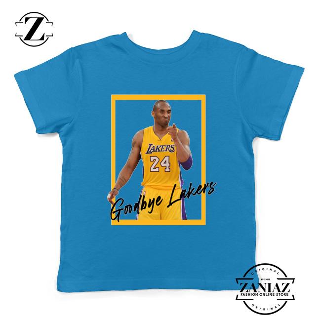 Goodbye Lakers Kids Tshirt Kobe Bryant RIP