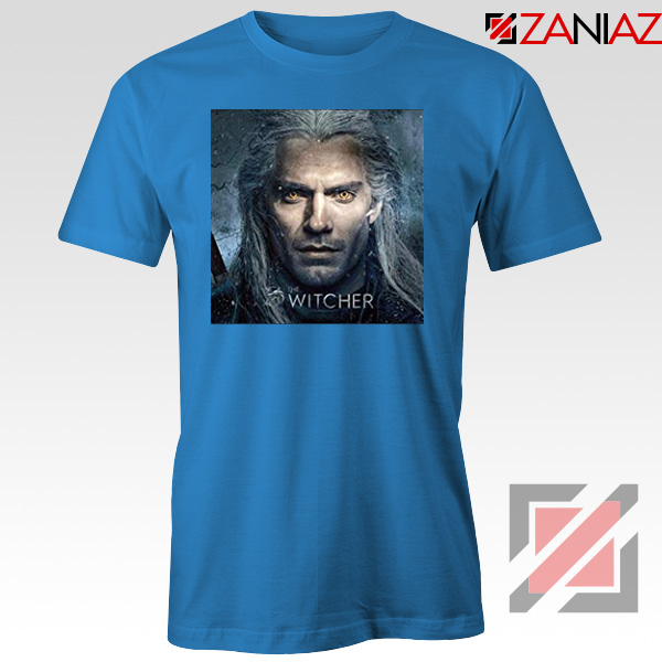 Henry Cavill Serial The Witcher Blue Tshirt