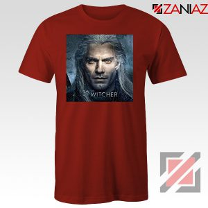 Henry Cavill Serial The Witcher Red Tshirt