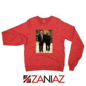 Kanye West and Donald Trump Red Sweatshirt