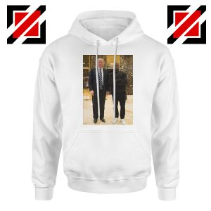 Kanye West and Donald Trump White Hoodie