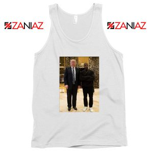 Kanye West and Donald Trump White Tank Top