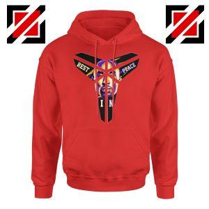 Kobe Black Mamba Logo Red Hoodie