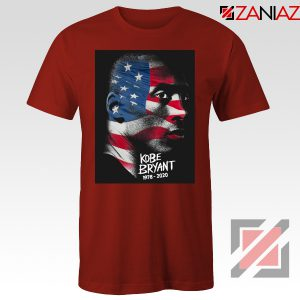 Kobe Bryant Design American Flag Red Tees