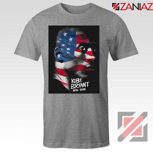 Kobe Bryant Design American Flag Sport Grey Tees