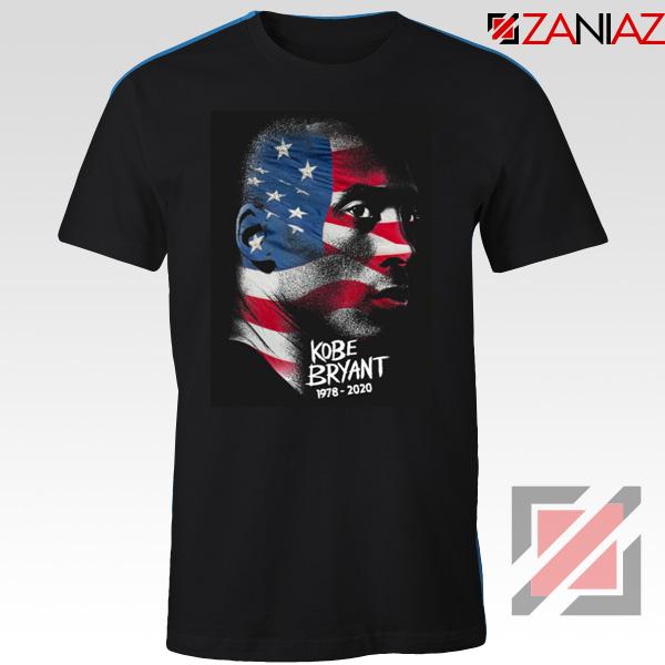 Kobe Bryant Design American Flag Tees