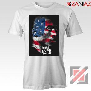 Kobe Bryant Design American Flag White Tees