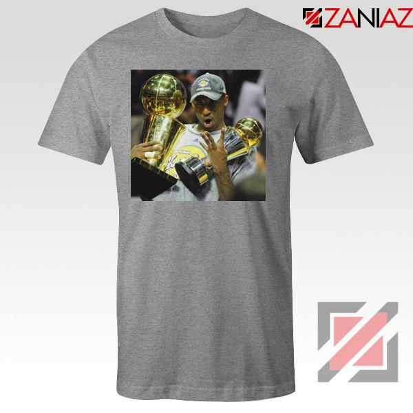 Kobe Bryant Surprising Trophies Grey Tshirt