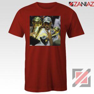 Kobe Bryant Surprising Trophies Red Tshirt