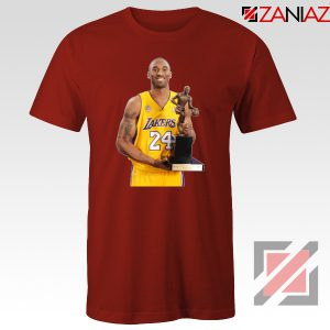 Kobe Bryant Trophy Lakers Red Tshirt