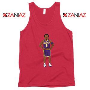 Lakers 8 Kobe Bryant Red Palyer Tank Top