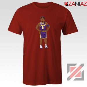 Lakers 8 Kobe Bryant Red Tee Shirts