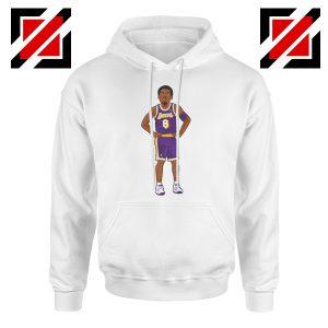 Lakers 8 Kobe Bryant White Palyer Hoodie