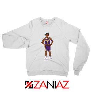 Lakers 8 Kobe Bryant White Palyer Sweatshirt