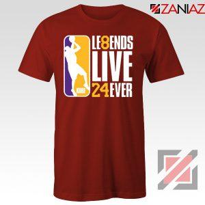 Legends Kobe Live Forever Red Tshirt