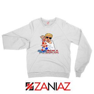 Merica Parody Salt Bae White Sweatshirt