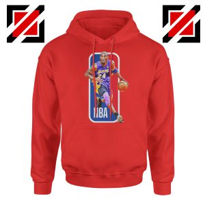 RIP Kobe Bryant NBA Lakers 24 Red Hoodie