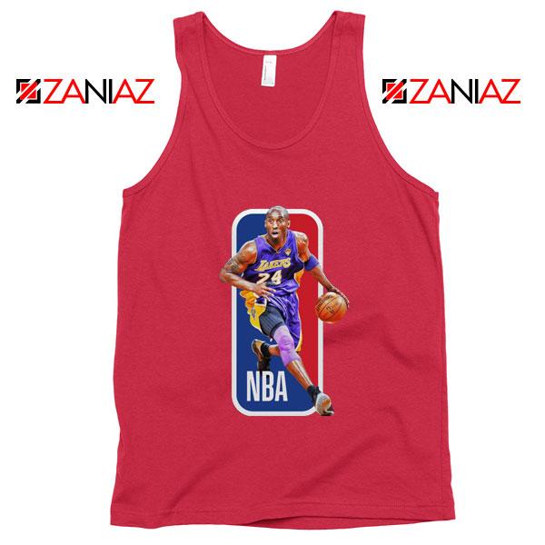 RIP Kobe Bryant NBA Lakers 24 Red Tank Top
