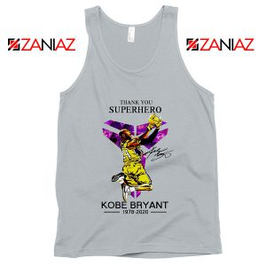 Thank You Superhero Kobe Bryant Grey Tank Top