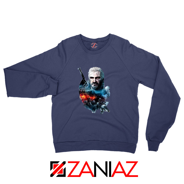 The Witcher 3 Into The Fire NAvy Sweater