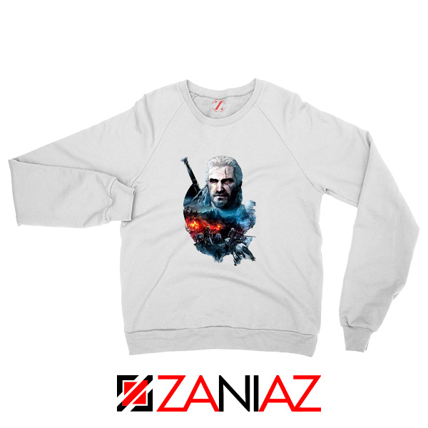 The Witcher 3 Into The Fire White Sweater