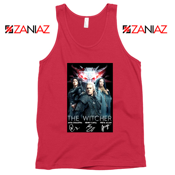 The Witcher Characters Red Tank Top