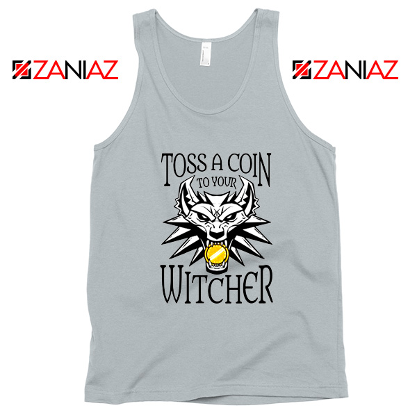 The Witcher Netflix Logo Grey Tank Top