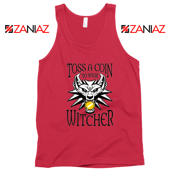 The Witcher Netflix Logo Red Tank Top