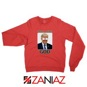 Troll Level God Donald Trump Red Sweater
