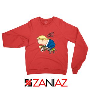 Trump And The Mexican Donkey Red Sweater