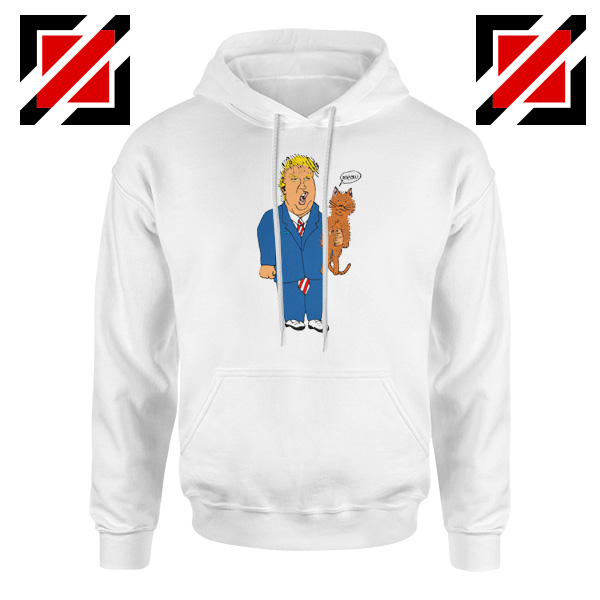 Trump Cat Collector White Hoodie