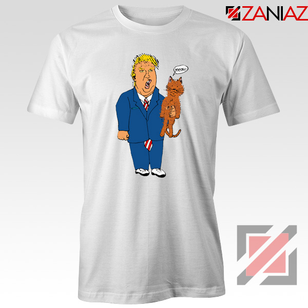 Trump Cat Collector White Tee Shirt