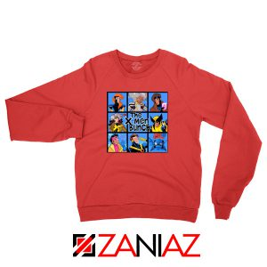 X Men Bunch Red Sweater
