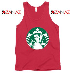 Ariana Grande Pop Music Red Tank Top
