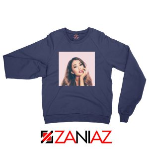 Ariana Grande Posters Navy Blue Sweater